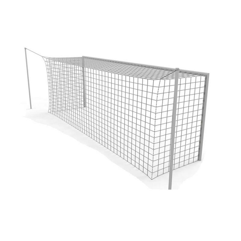 Купить Сетка для футбольных ворот Sportiko 7,32х2,44 профессиональная, белая нить 5мм, пара, sportiko