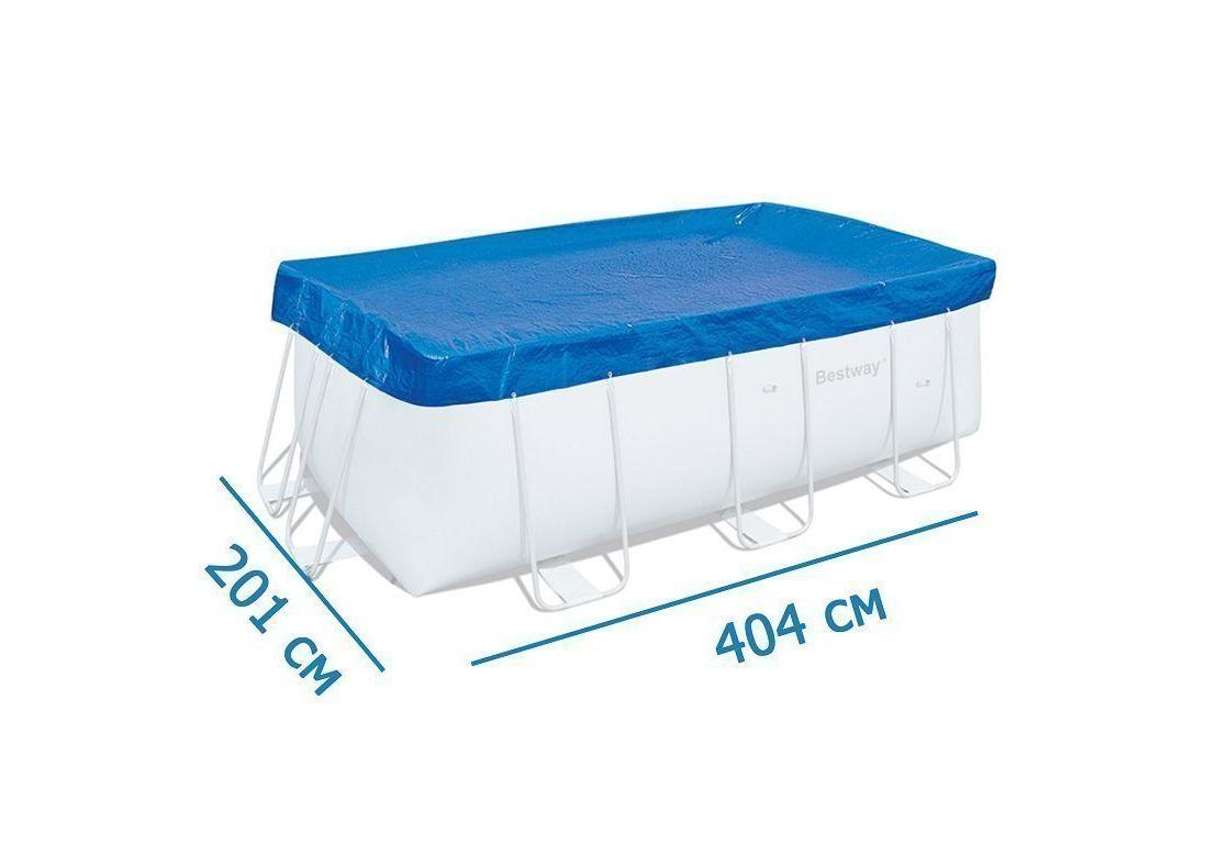 Купить Чехол защитный для бассейна прямоугольного на стойках Bestway 58232,