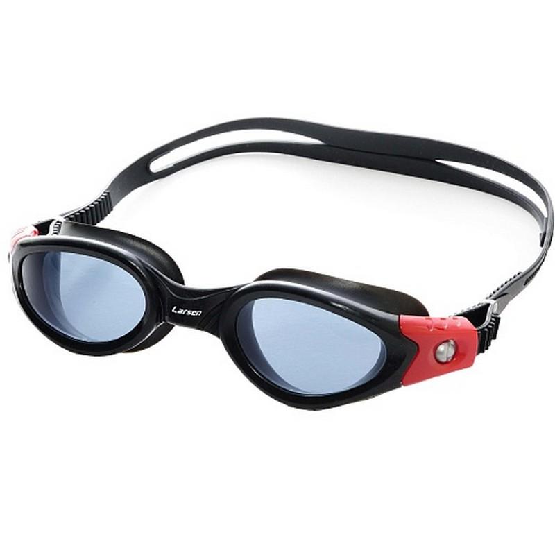 Купить Очки для плавания Larsen S50 Pacific BK/RD,