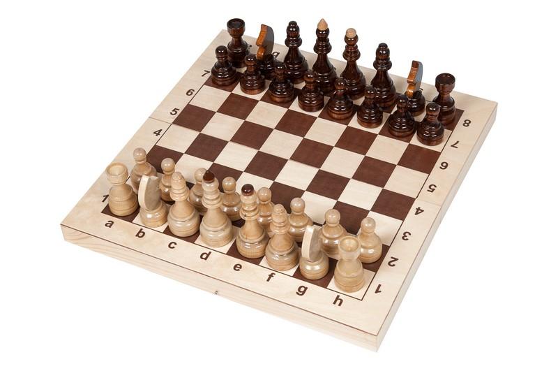 Купить Шахматы Кировские большие (Россия, дерево, 43х21.5х6 см), NoBrand, Шахматы, шашки, нарды