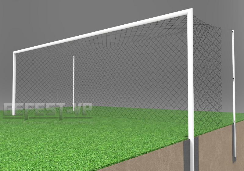 Купить Ворота для футбола, стальные, бетонируемые Gefest СБ-5081 (500x200) пара,