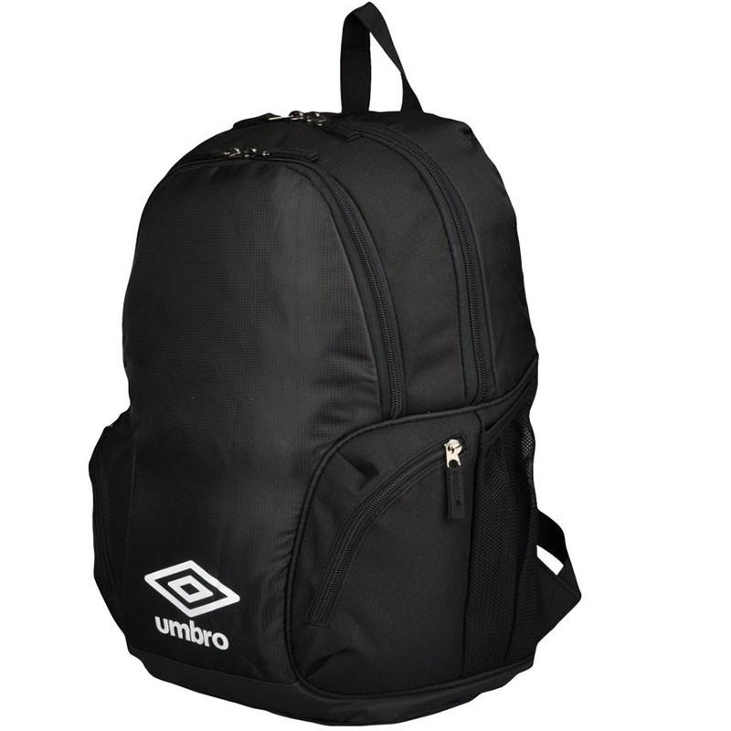 Рюкзак спортивный Umbro Team Premium Backpack, 2 отделения, 2 кармана на молнии, черн/бел.