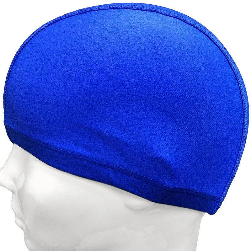 Шапочка для плавания текстильная (синяя) C33568-1, NoBrand  - купить со скидкой