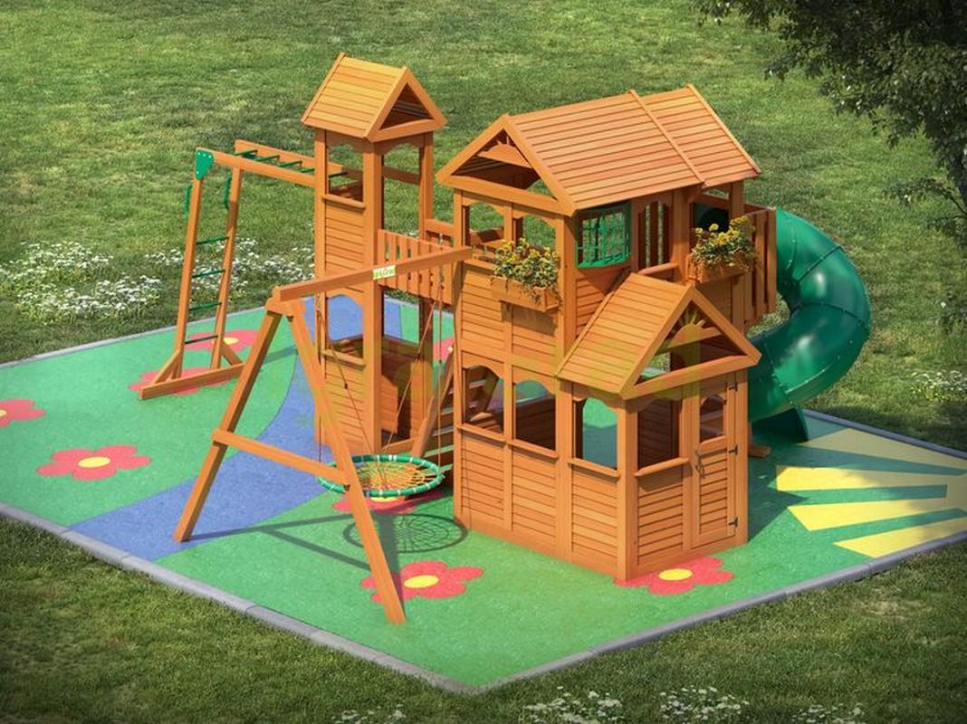 Детская площадка для дачи Igragrad Клубный домик Макси с трубой