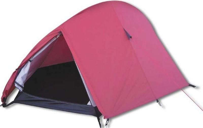 Палатка 2-м Bergen Sport Uno-2 вишнёвый/чёрный палатка columbus cambridge pro двухслойная двухместная цвет синий