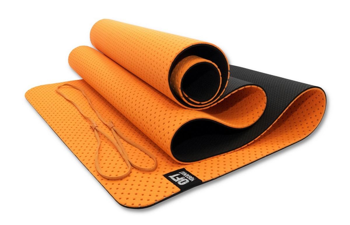Мат для йоги Original Fit.Tools FT-YGM6-3DT-ORANGE оранжевый