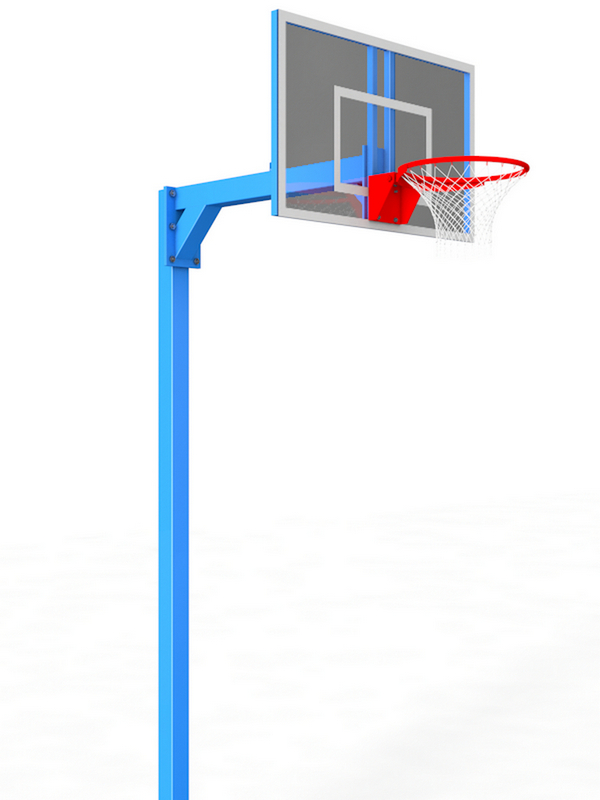Стойка баскетбольная разборная уличная одноопорная. Вынос консоли 1,2м Glav 02.108