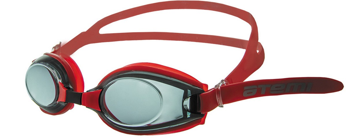 Купить Очки для плавания Atemi M405 красный,