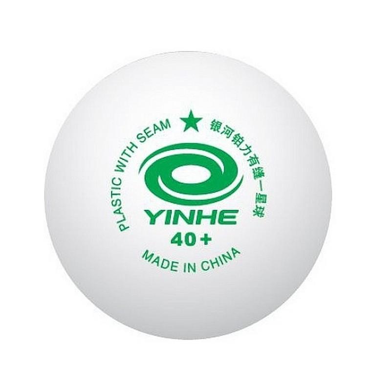Мячи пластиковые Yinhe 40+ 1* со швом 10 шт 9995-10