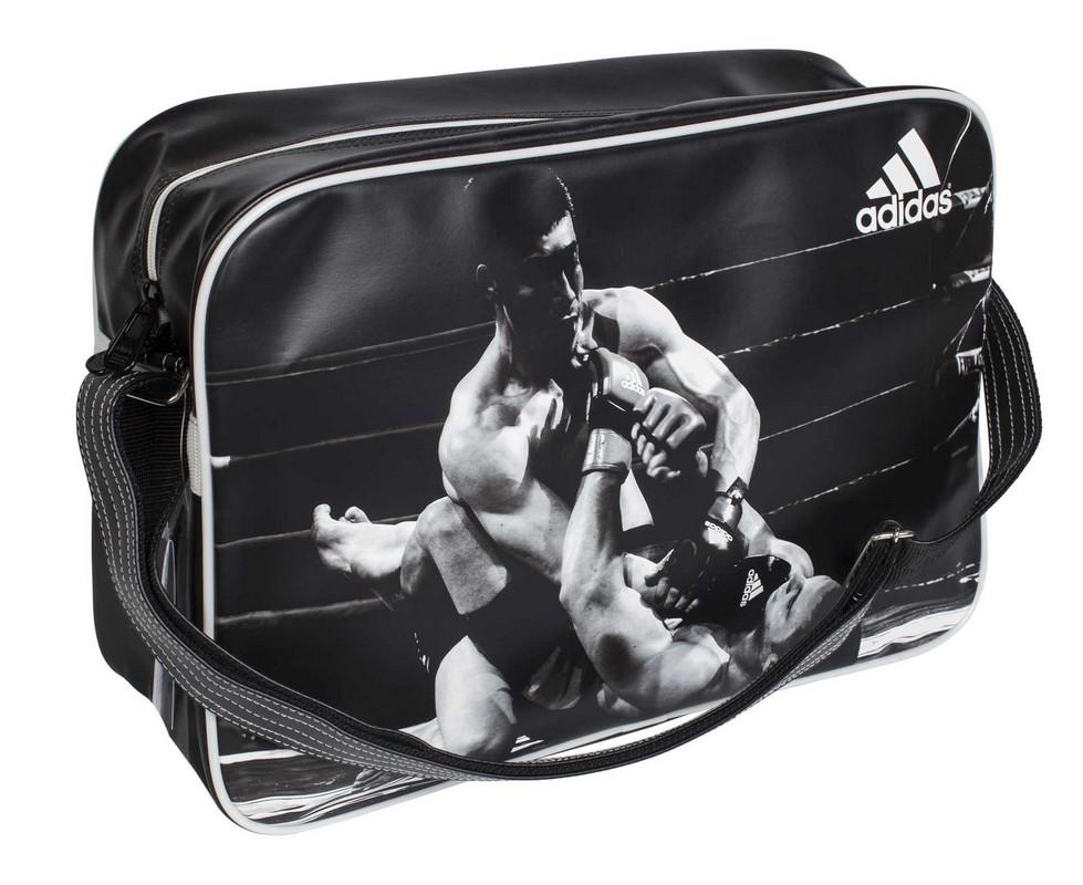Сумка спортивная Adidas Sports Bag MMA L черно-белая adiACC111CS-M-L yzea yzea спортивная сумка sports конус