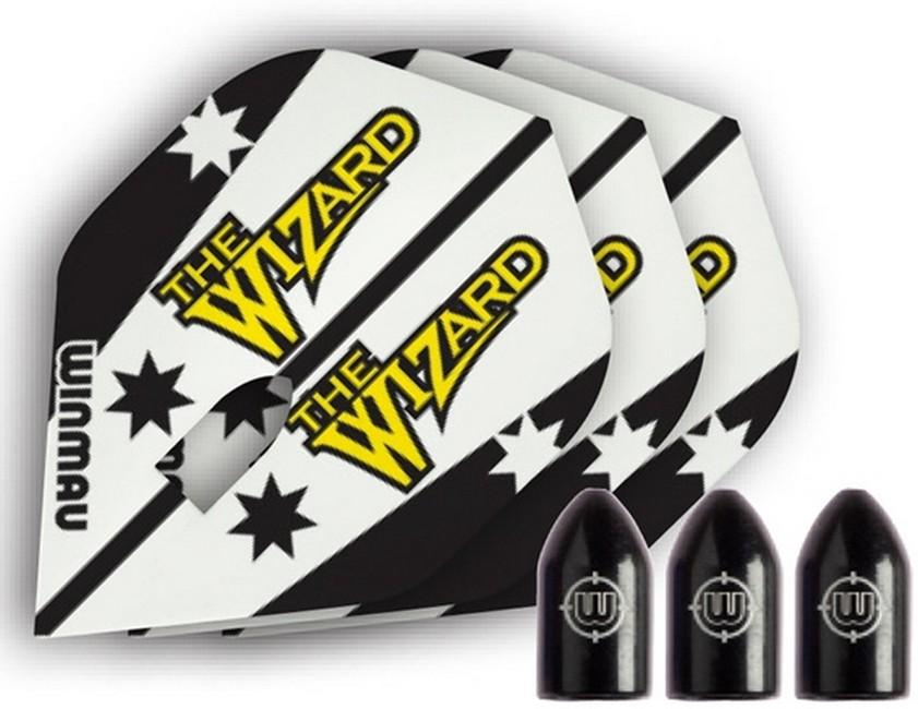 Оперения Winmau Wizard и черные защитные колпачки