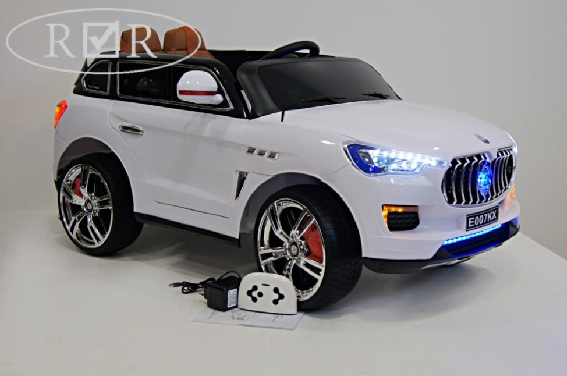 ЭлектромобильRiver-Toys Maserati E007KX белый с ДУ