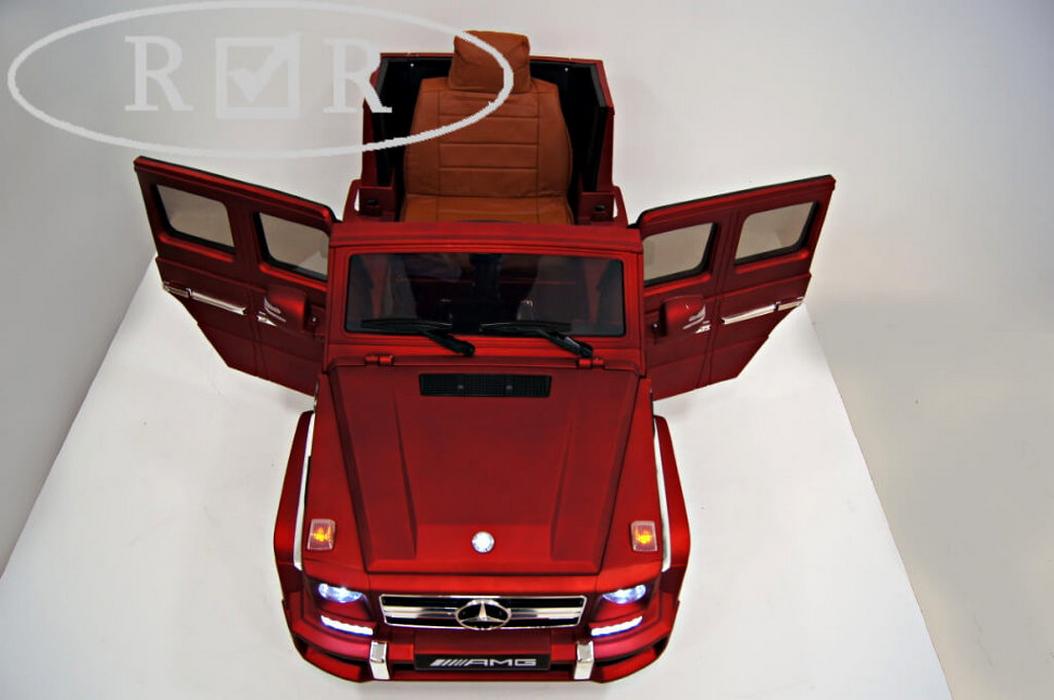 Электромобиль RiVeR-Toys Mercedes-Benz G63 (лицензия) вишневый глянец с ДУ
