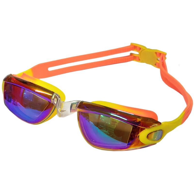 Очки для плавания регулируемый B31549-3 Желтооранжевый Мультиколор, NoBrand  - купить со скидкой