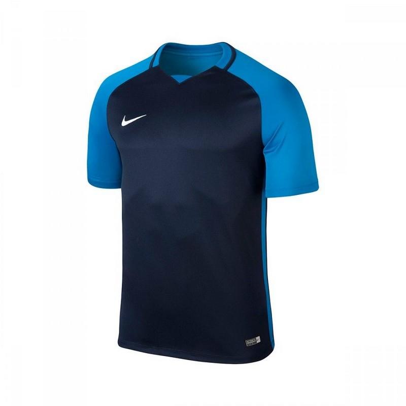 Футболка спортивная Nike Trophy III Jersey SS SR мужская, синяя футболки nike футболка игровая nike trophy iii 881483 410