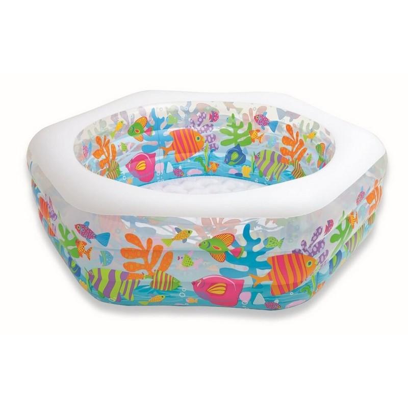 Купить Бассейн Океанский риф с надувным дном 191х178х61см Intex 56493,