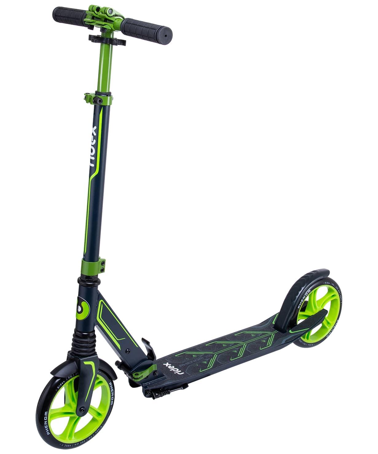 Купить Самокат 2-колесный Ridex Phenom d200 мм, зеленый,