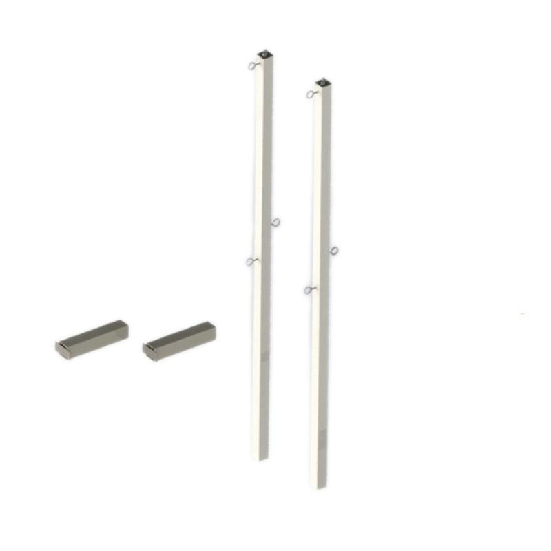 Стойки для бадминтона со стаканами (под бетонирование) Dinamika ZSO-002766