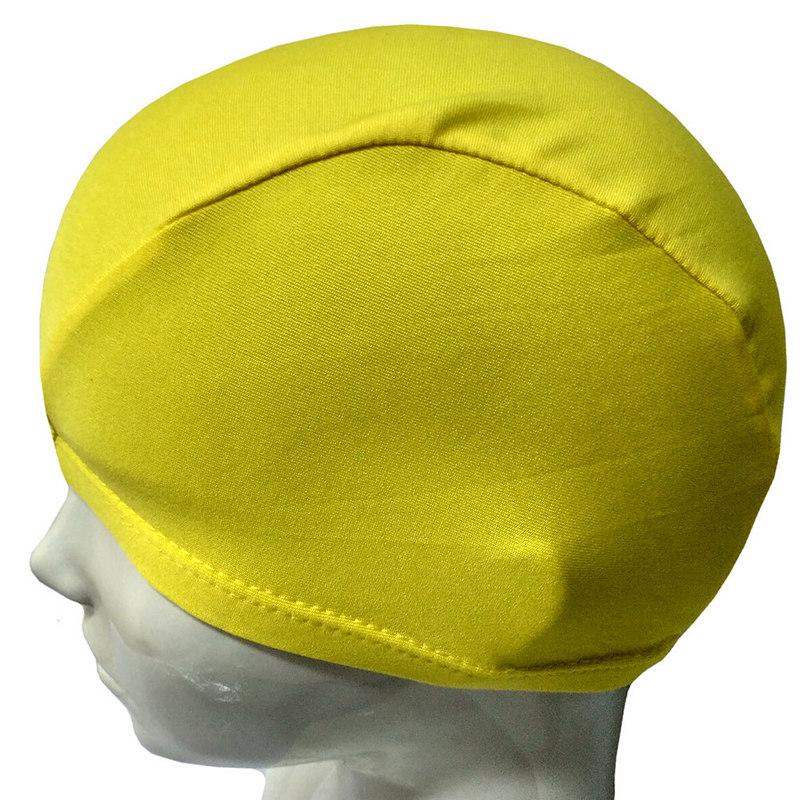 Купить Шапочка для плавания текстиль взрослая (желтый) B26291, NoBrand