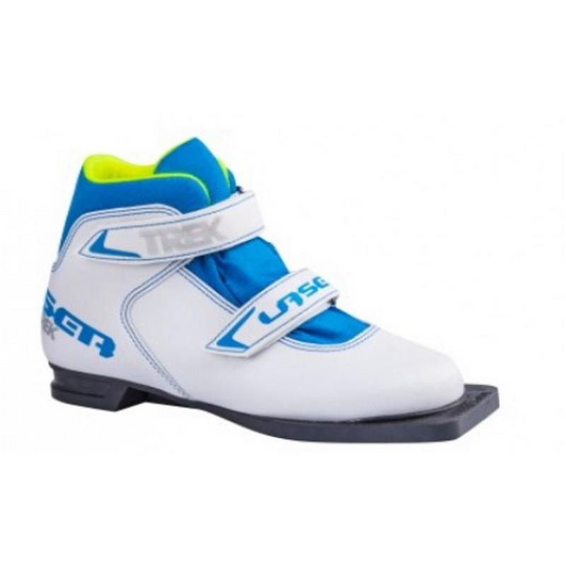 Ботинки лыжные Trek Laser 2 белый лого синий