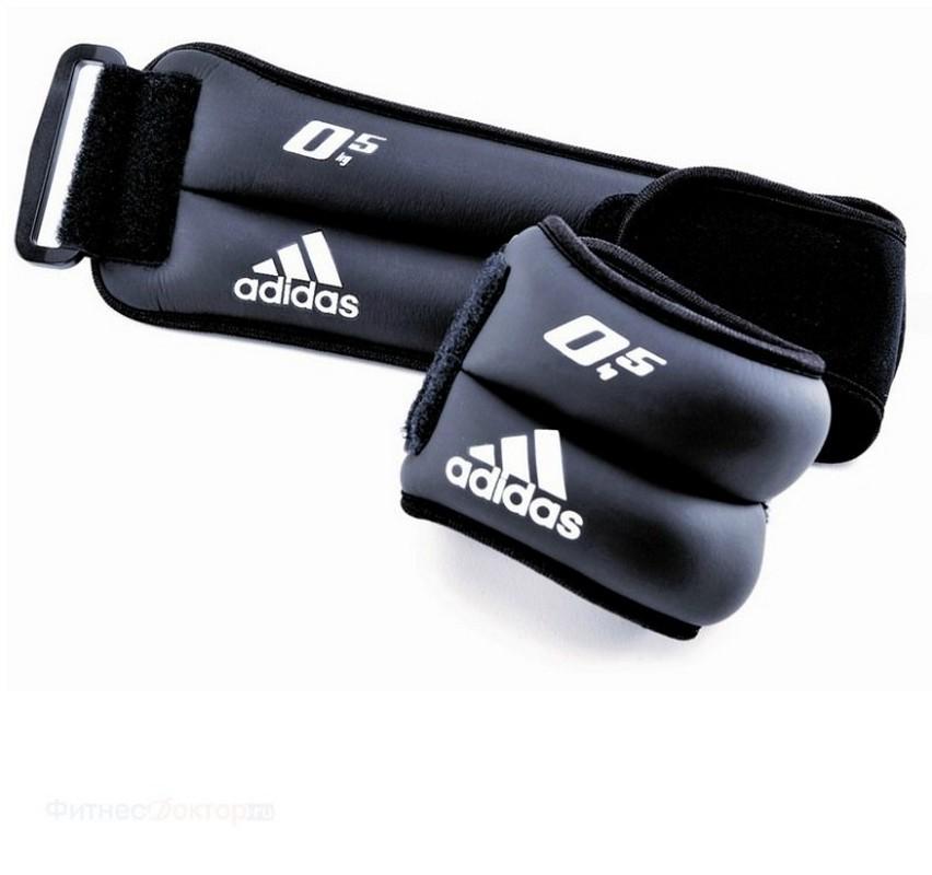 Утяжелители на запястья/лодыжки Adidas (2x0,5 кг) (пара) ADWT-12227 цена