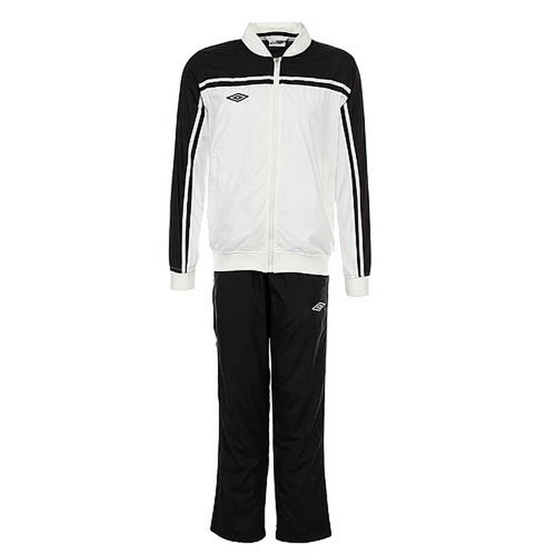 Костюм спортивный Umbro Stadium lined Suit мужской 460213 (161) бел/чер.
