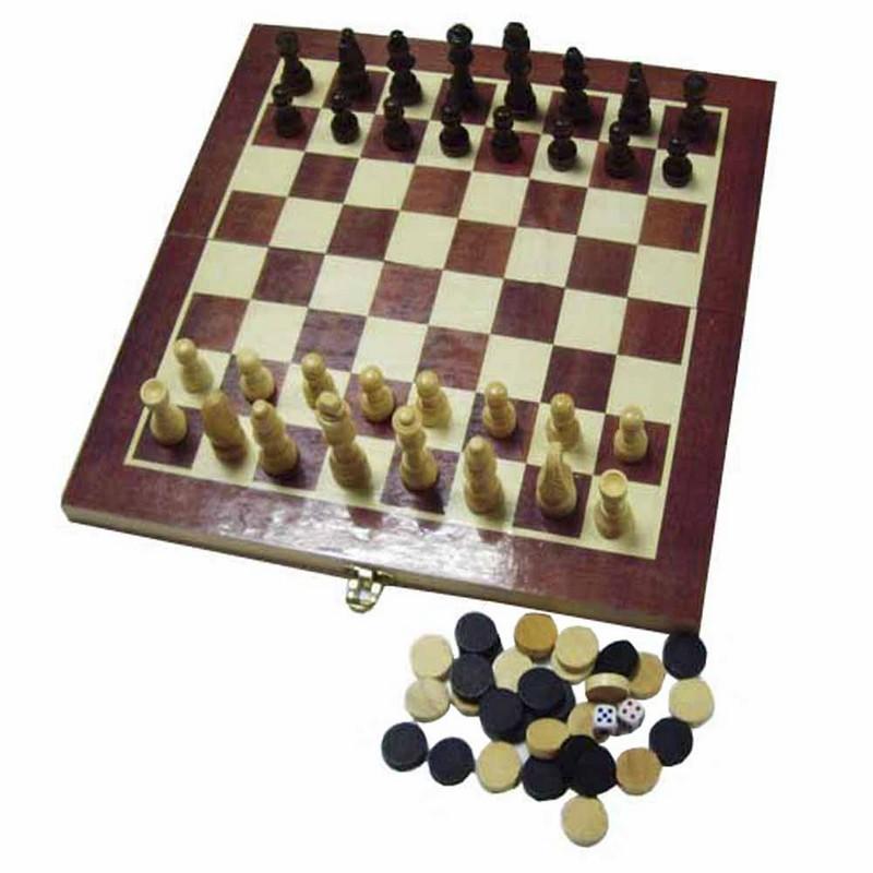 Купить Набор 3 в 1 шахматы, шашки, нарды W001S, NoBrand, Шахматы, нарды