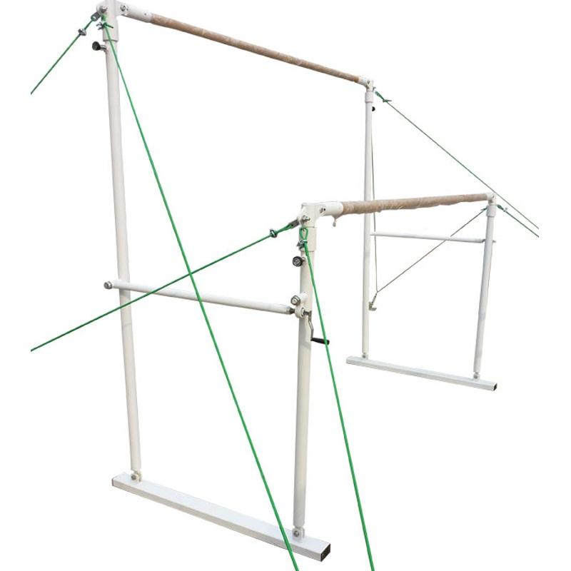 Брусья гимнастические женские на растяжках деревянные жерди Спортивные Технологии