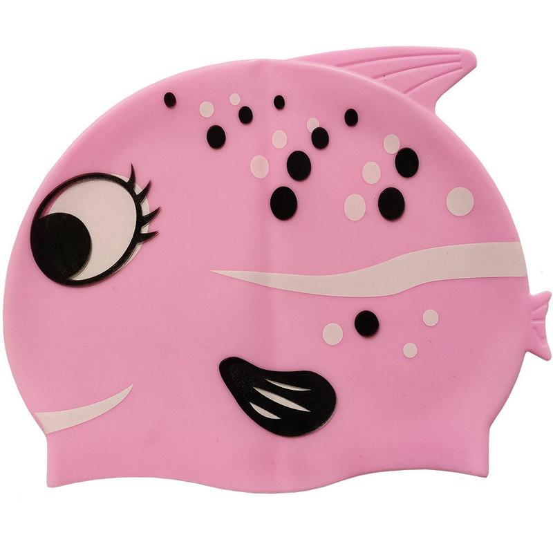 Купить Шапочка для плавания силиконовая с принтом B31515-2 (Розовая), NoBrand