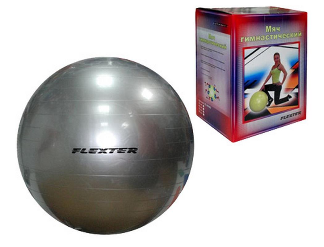 Мяч гимнастический Flexter 75см серебристый FL97402 гимнастический обруч алюминиевый мультиколор 75см