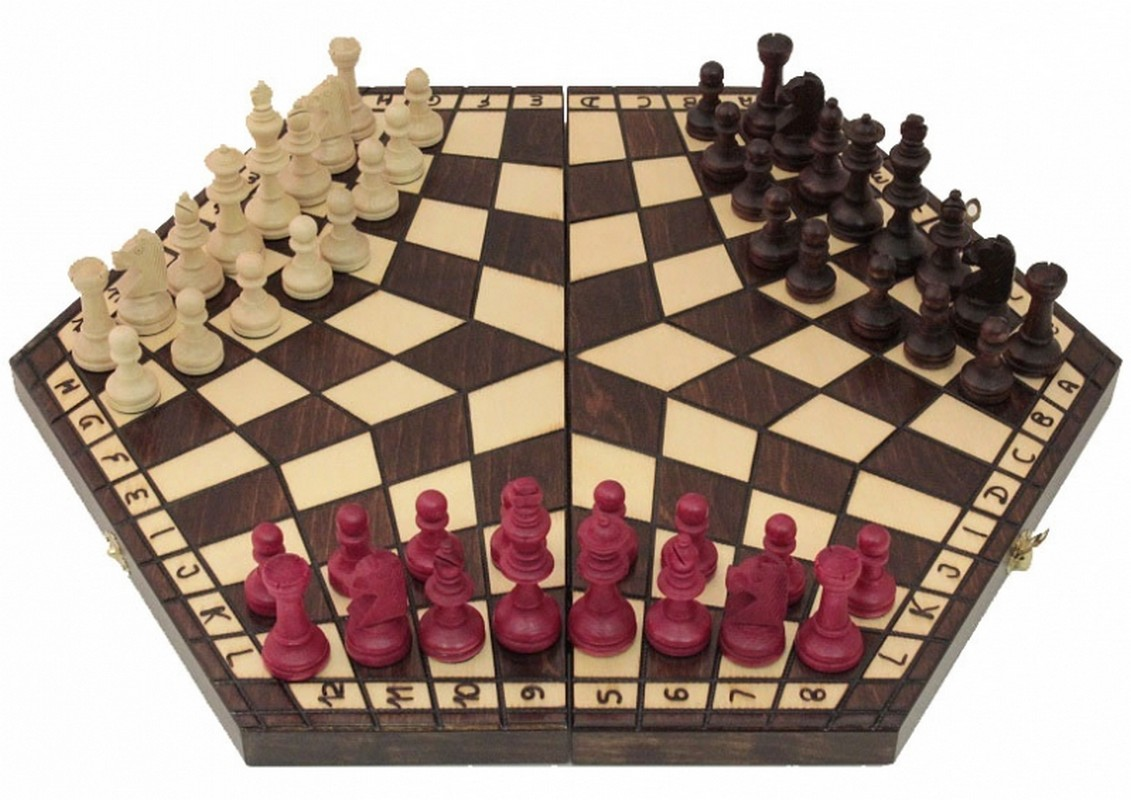 Шахматы На троих средние u163