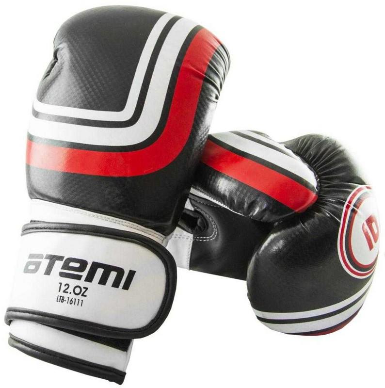 Перчатки боксерские Atemi LTB-16111, 6 унций S/M, черные перчатки боксерские green hill proffi цвет желтый черный белый вес 12 унций bgp 2014