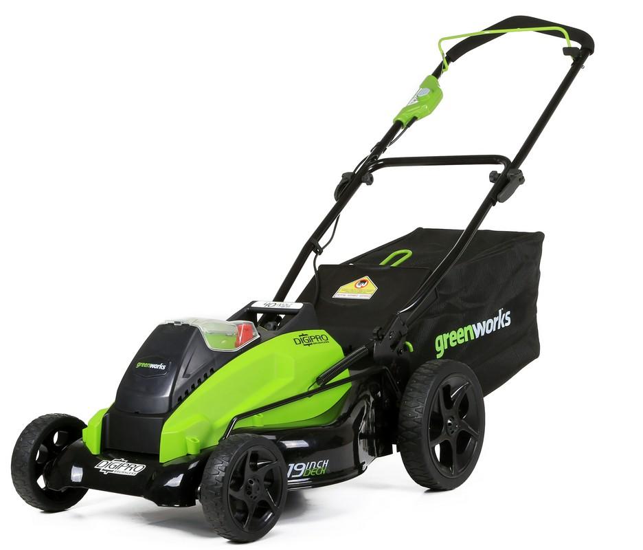 Газонокосилка GreenWorks GD40LM45 40V, 45 см, бесщеточная, c 1хАКБ 4 А.ч и ЗУ