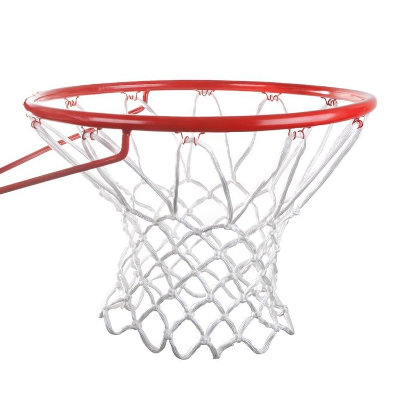 Кольцо баскетбольное Joerex с сеткой E02, красный