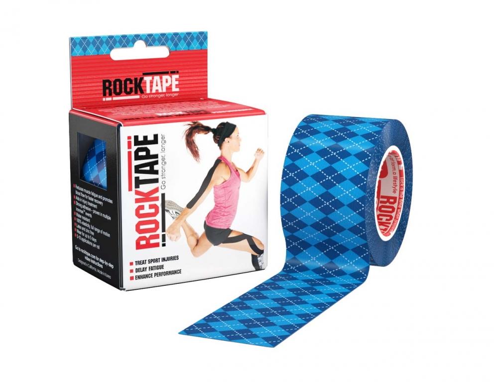 Кинезиотейп RockTape Design, синий узор 2169 от Дом Спорта