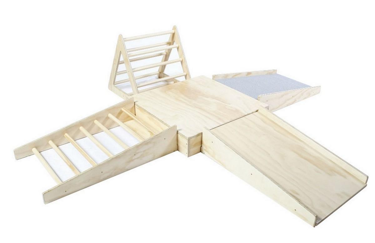 Купить Игровой модульный комплект пандуса для детей Dinamika из дерева,