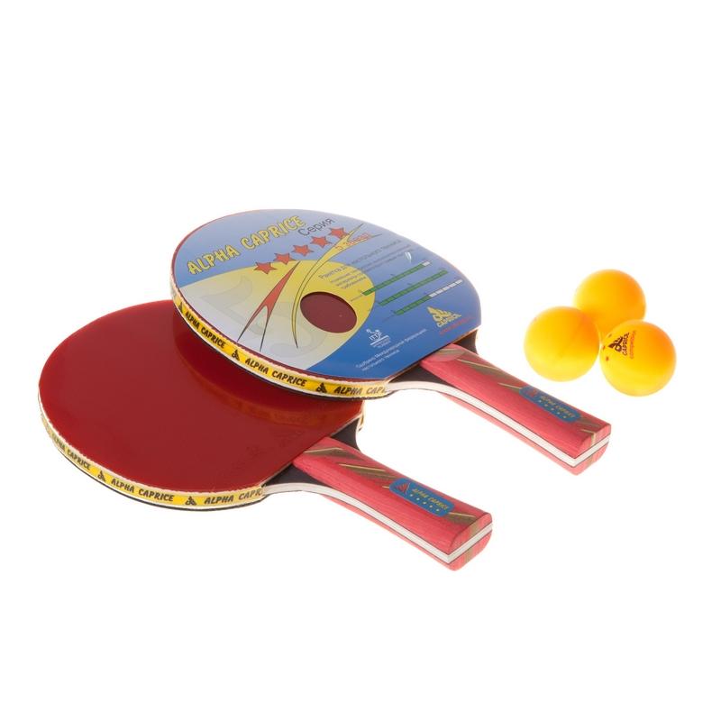 Набор для настольного тенниса Alpha Caprice P-81510 (2 ракетки, 3 мяча) цена