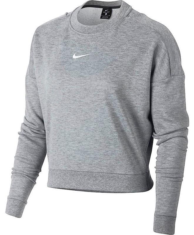 Свитшот Nike Dry Crewneck CropTop LS W 889243-091 свитшоты nike свитшот