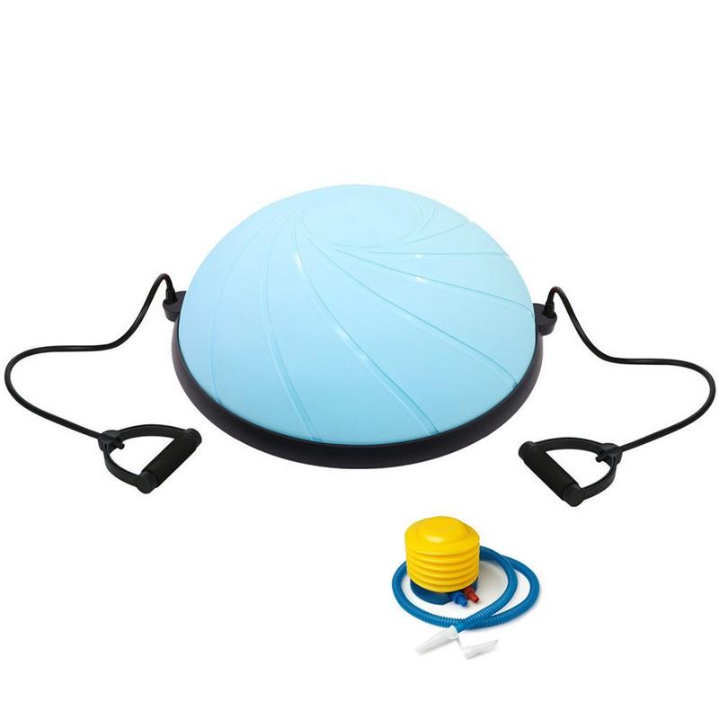 Купить Полусфера Bosu гимнастическая, d58см, BOSU060-31 голубая (с эспандерами и насосом B33047),