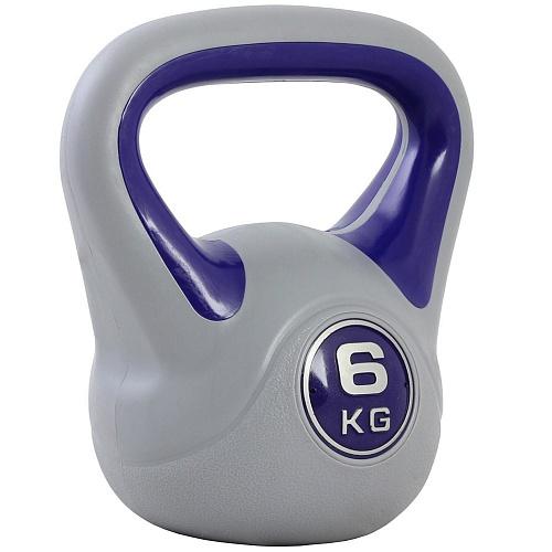 Купить Гиря пластиковая Start Up ЕСЕ 010 6 кг, серый/фиолетовый,