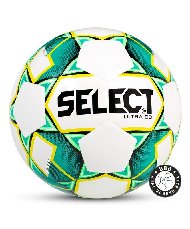 Купить Мяч футбольный Select Ultra DB 810218, р.5, белый/зеленый/желтый/черный,