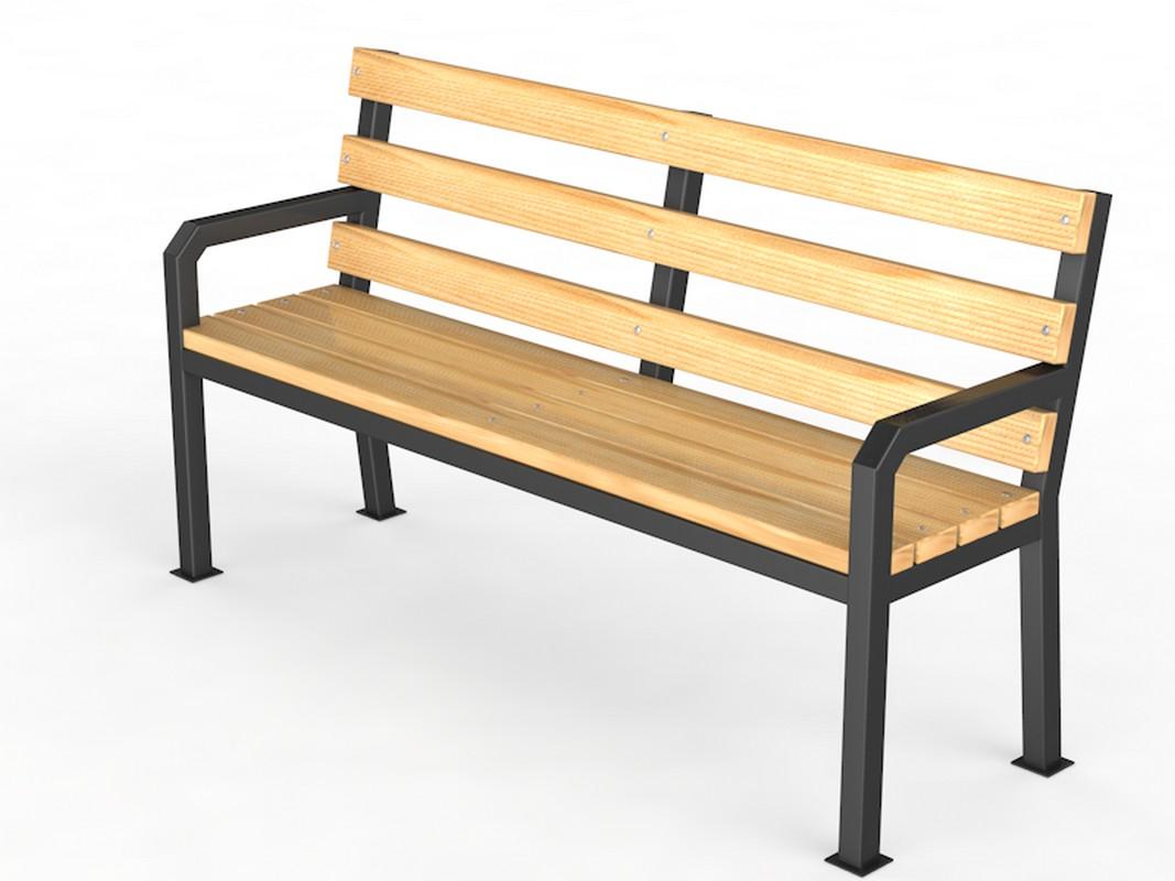Купить Уличная скамейка со спинкой Glav Дача, длина 1500 мм 14.6.600-1500,