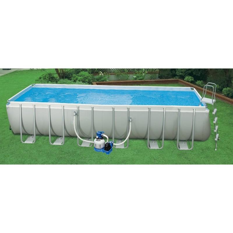 Бассейн каркасный 732х366х132 см Intex 28362 кровать comfort plush 152х203х56см со встроенным насосом 220в intex 64418
