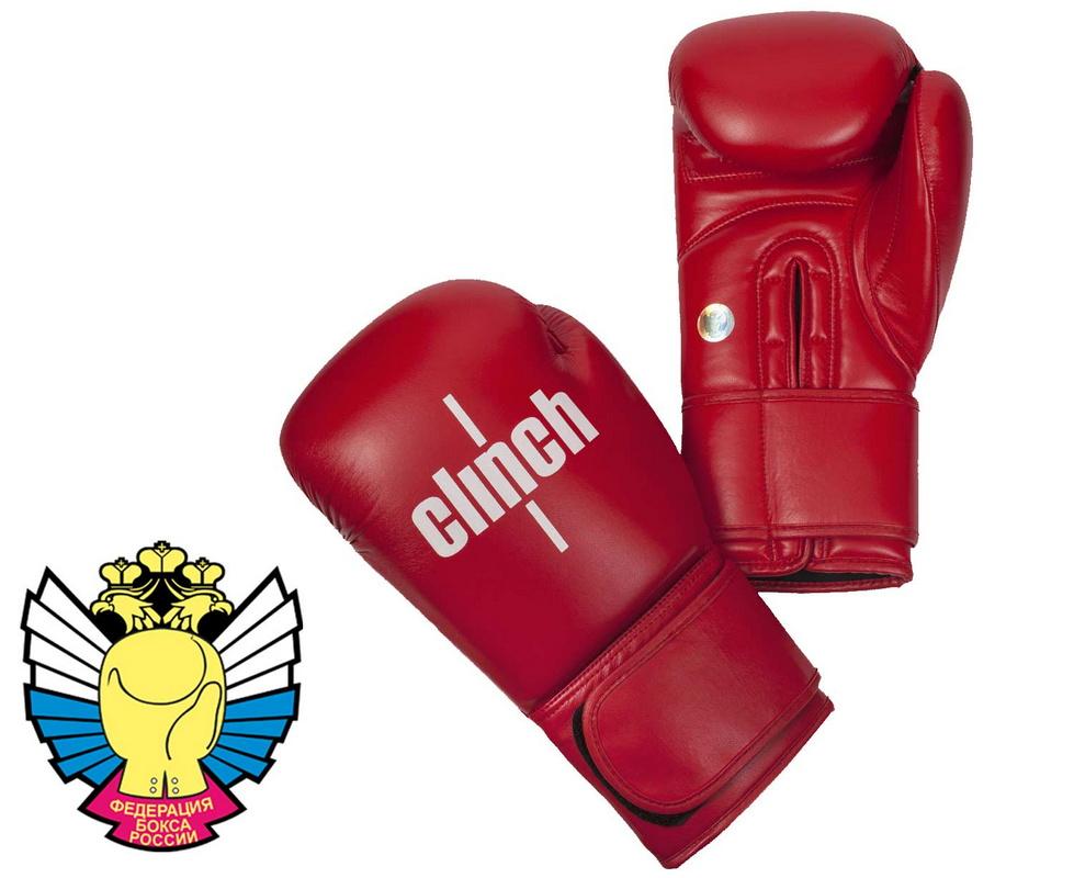 Боксерские перчатки Clinch Olimp C111 красный 10 oz от Дом Спорта