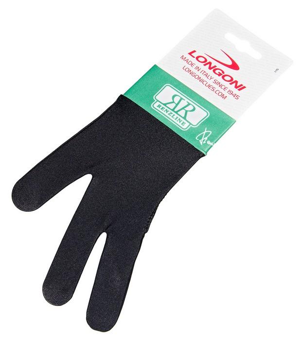 Перчатка бильярдная Longoni Renzline (черно-зеленая) 45.305.03.8