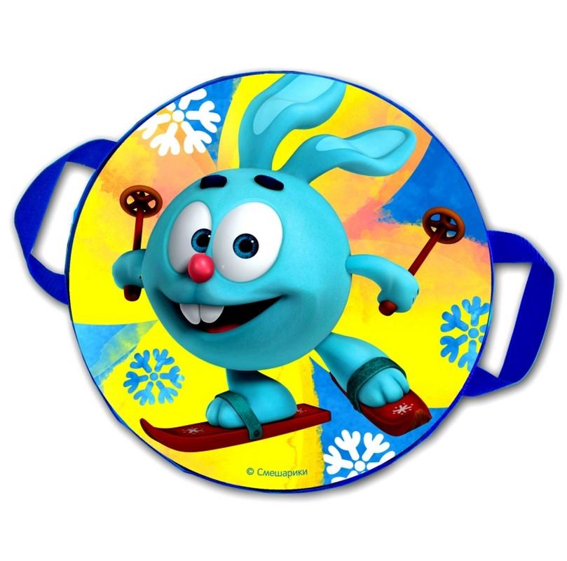 Ледянка мягкая ComboSport Смешарики Крош D=45 см Синий/желтый