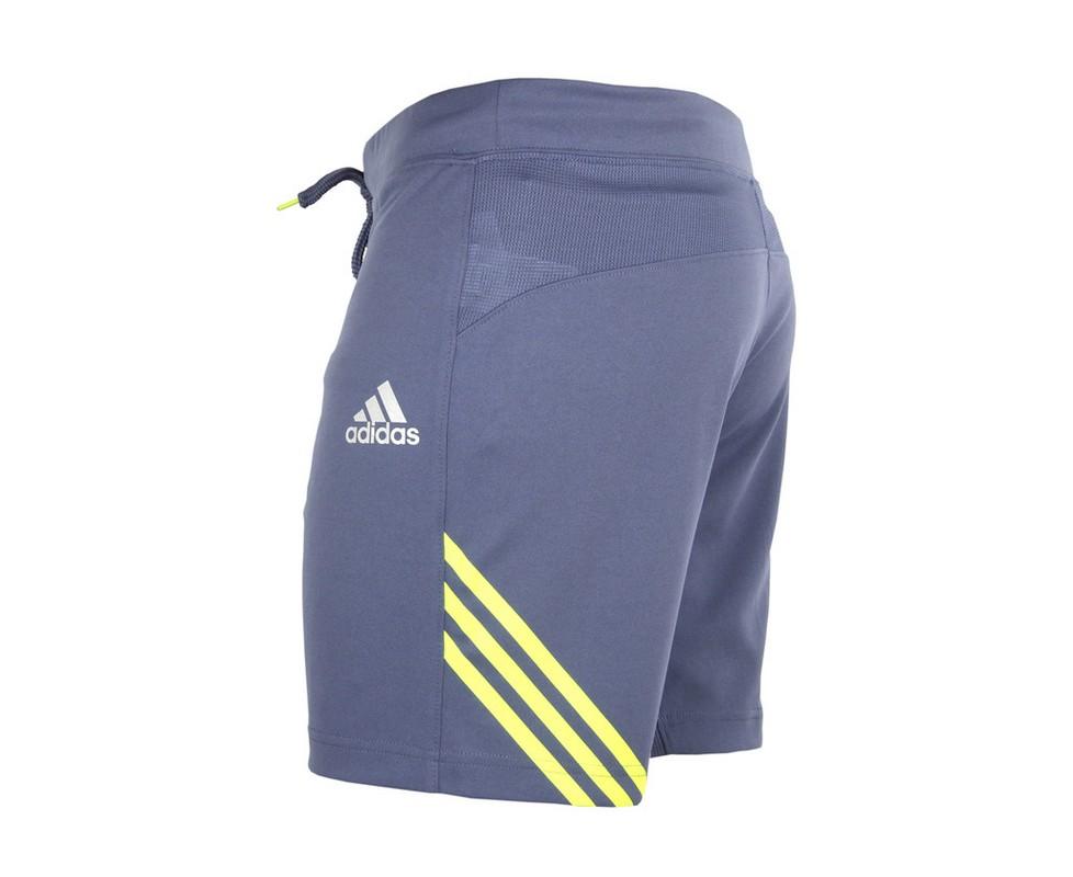 Шорты спортивные Adidas Training Short Speedline серо-желтые adiSTS02