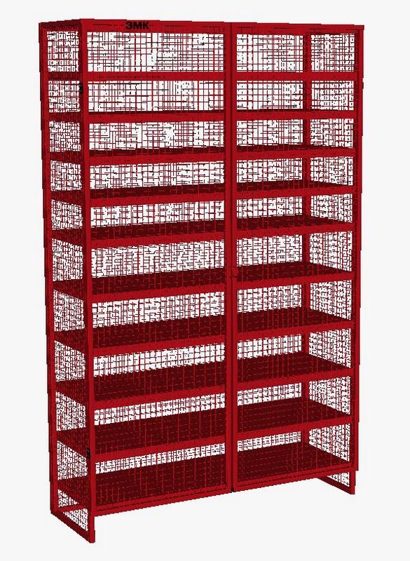 Стеллаж для хранения инвентаря ЗМК Закрытого типа 200x124x44см