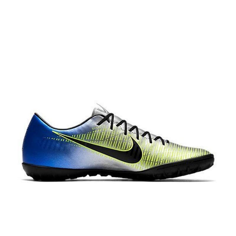 Шиповки Nike Mercurialx Victory VI Njr TF 921517-407 SR серебр/син/зел