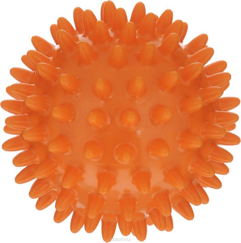 Медбол массажный Ежик d18 см, оранжевый